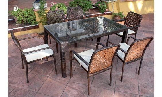 Elgante y sencillo comedor de terraza y jard n donde podra for Donde queda terrazas