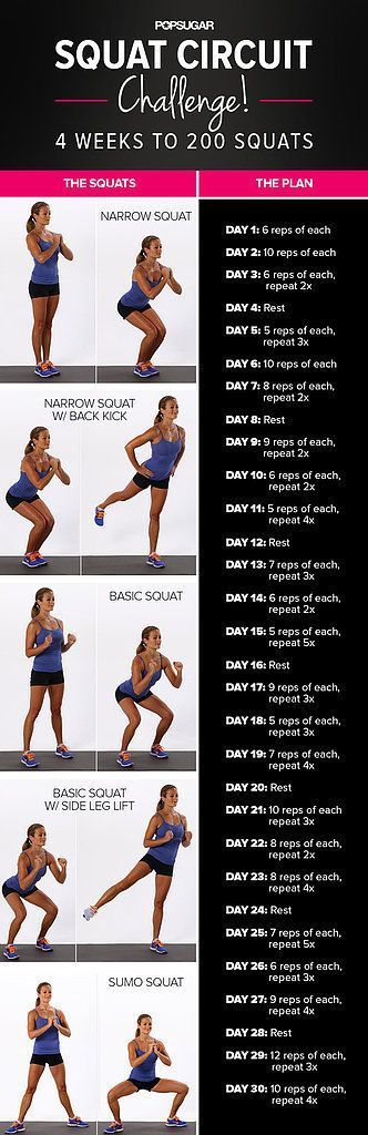 Squat challenge worth your time! Works all three of the booty muscles