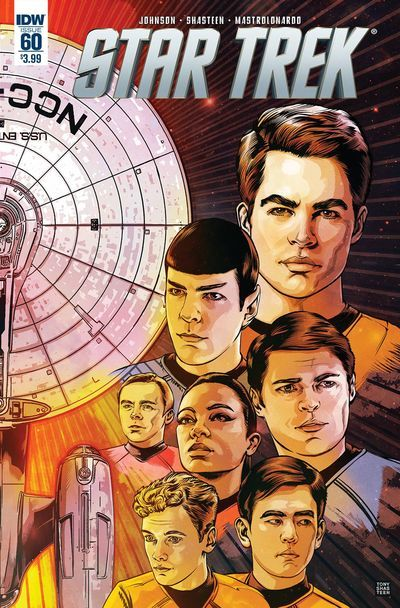 DEAL OF THE DAY Star Trek #60 - $3.59 Retail Price: $3.99 You Save: $0.40 BLOCKBUSTER SERIES FINALE! A Five Year Mission = five years of STAR TREK comics! Celebrate the end of the latest chapter in the Enterprise's epic adventures with this all-new story that brings Captains and crews from two different timelines together!  TO BUY CLICK ON LINK BELOW http://tomatovisiontv.wix.com/tomatovision2#!comics/cfvg