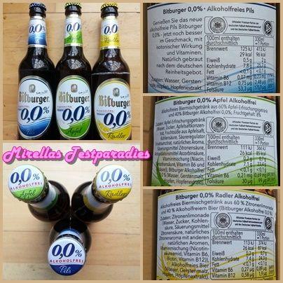 Bitburger alkoholfreies Bier (Pils, Apfel und Radler) aus der Degustabox Juni.