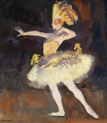 'Tamara Karsavina of the Ballets Russes as The Firebird' by Laura Knight.