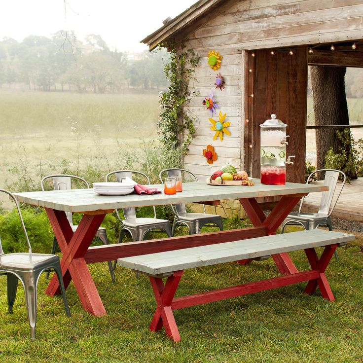 Picnic Table Dining Room: 34 Best Images About Gardening Ideas On Pinterest
