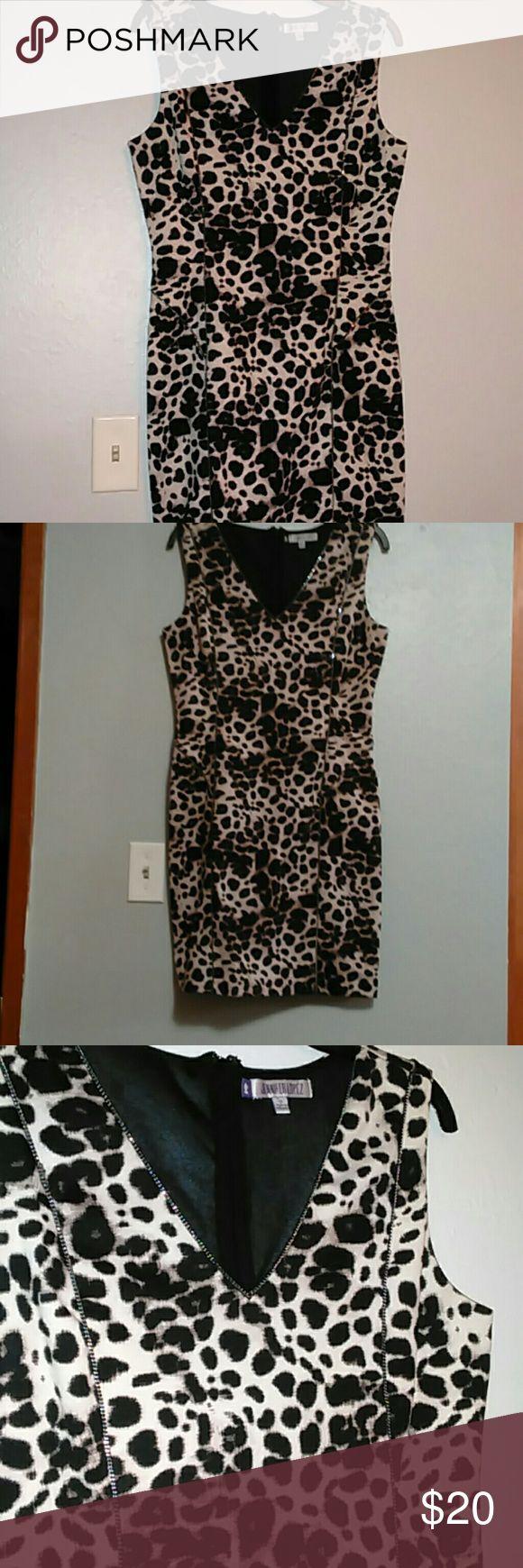 Jlo cheetah dress Worn twice, in new condition:) Jennifer Lopez Dresses Midi