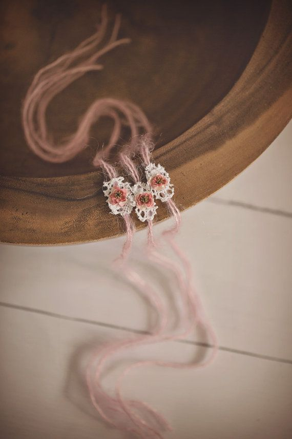 Fairy Whispers Mohair tieback. Pink Mohair and by PrincessPeaProps, $15.00
