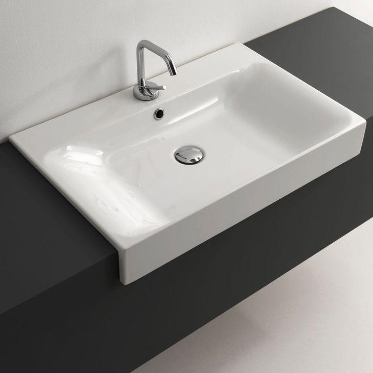 Best Bathroom Semi Recessed Basins Ideas On Pinterest Semi - Black drop in bathroom sink for bathroom decor ideas