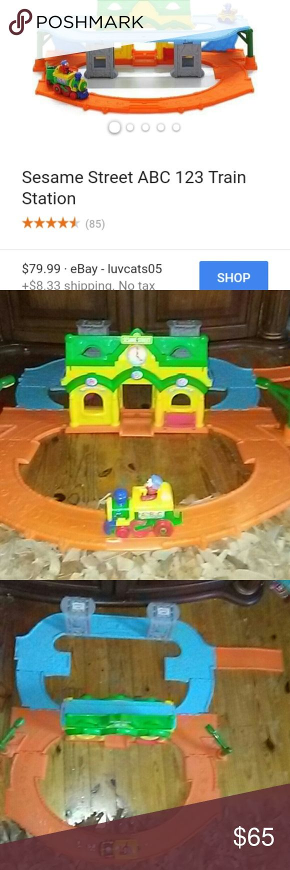 🚂Sesame Street Elmo Junction ABC Train Set Like new Sesame Street Elmo Junction ABC Train Set. Elmo sings songs. Has alphabet and numbers 1-20. Folds over to make 2 different track setups. Perfect for a gift! Sesame Street Accessories