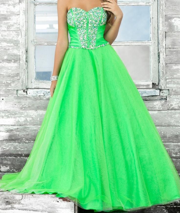 neon green dress | Future wedding | Pinterest | Neon green ...