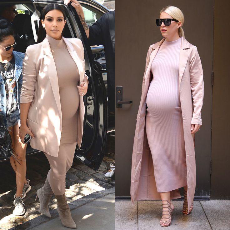 Pregnant Woman Tries Kim Kardashian's Pregnancy Outfits | POPSUGAR Fashion
