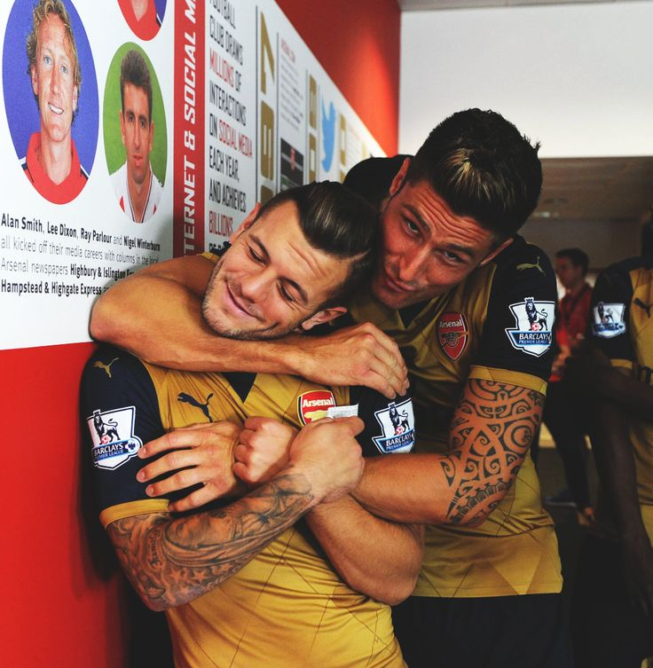 Jack Wilshere and Olivier Giroud - #AFC: