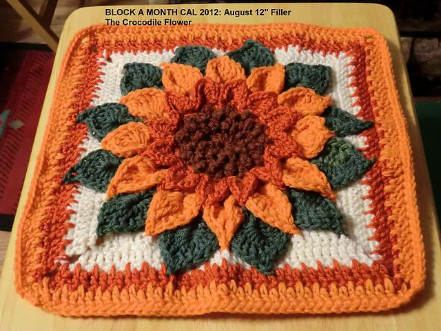"""Ravelry: Berniece's Block A Month 2012: August 12"""" Filler FREEBIE. WOW!!! Thanks so for sharing xox"""
