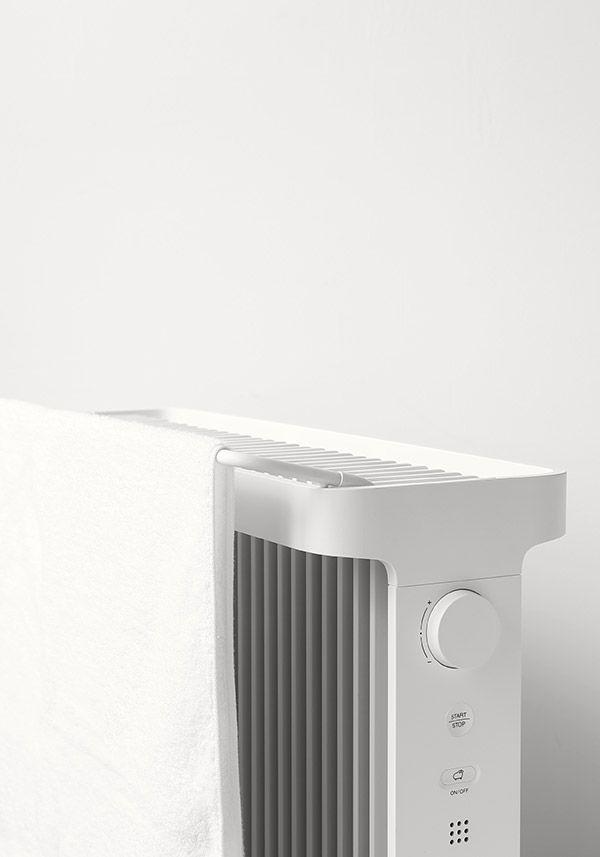 SmartHeater2 | オプションのタオルハンガーに濡れたタオルをかけると、自然な加湿ができます。
