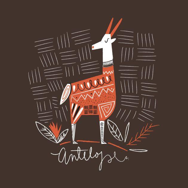 Awesome 'Antelope+drawing' design on TeePublic!