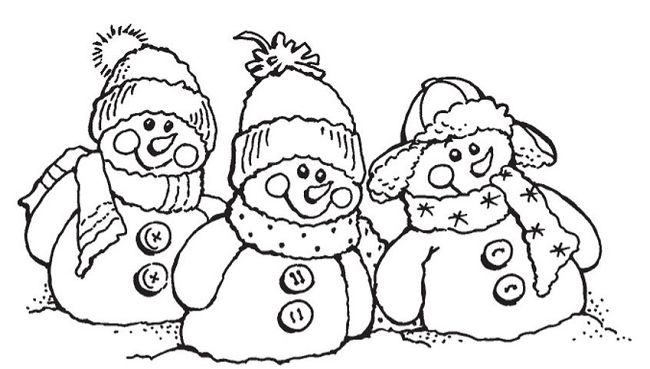 Stampendous - Cling Mounted Rubber Stamp - Snowman Friends,$6.99