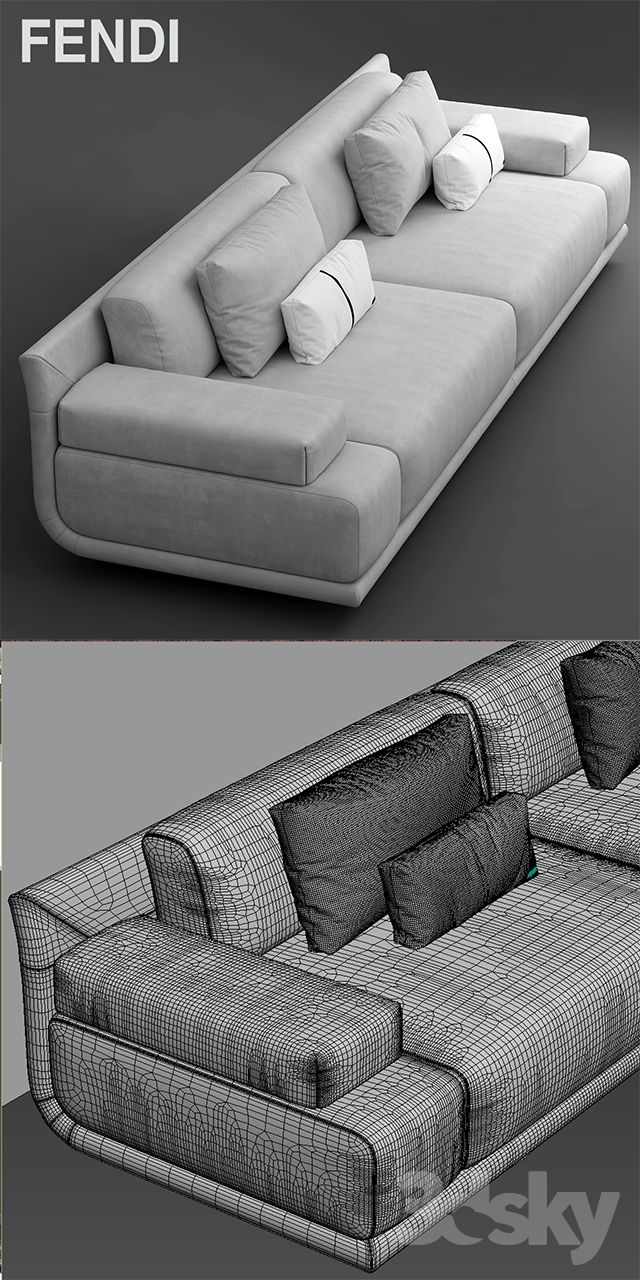 Divani Fendi 3d Models Sofa Sofa Fendi Casa Artu Sofa Interior Furniture