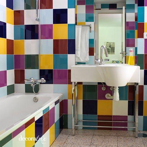 Principales 25 ideas incre bles sobre azulejos pintados en - Pintar azulejos bano ...