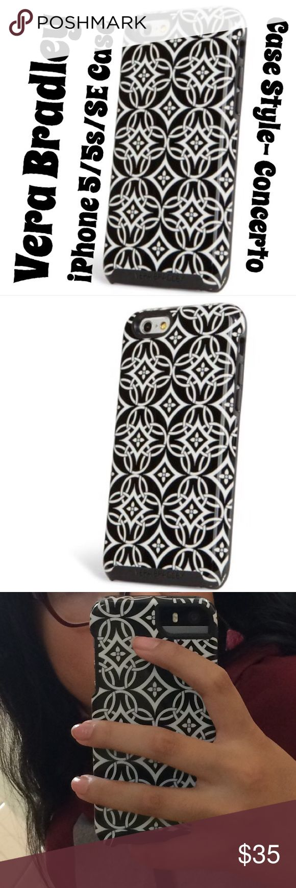 Vera Bradley- IPhone 5/5s/SE Case Brand: Vera Bradley  Fits: IPhone 5/5s/SE Case Type: Concerto Regular Price: $38. Even higher on the official Vera Bradley site, but I couldn't find it on there. Vera Bradley Accessories Phone Cases