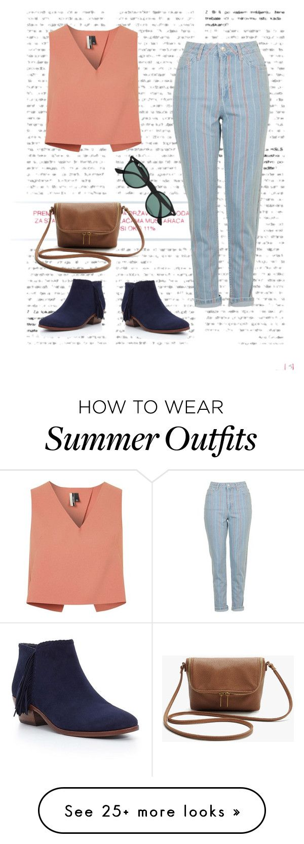 """Spring Outfit #2"" by agnesel on Polyvore featuring Sam Edelman, Topshop and Ray-Ban"