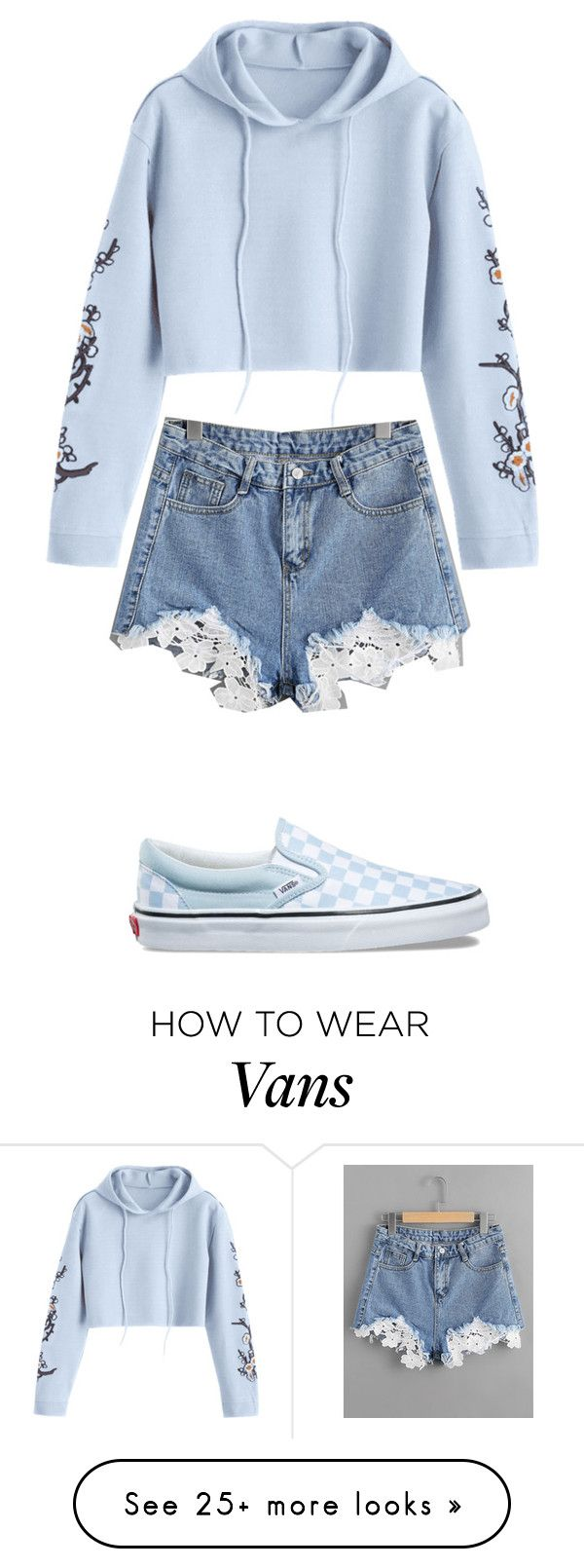 """Summer nights"" by grimmjulz on Polyvore featuring Vans and Hoodies"