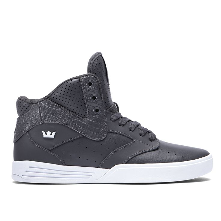 KHAN in CHARCOAL - WHITE | SUPRA Footwear