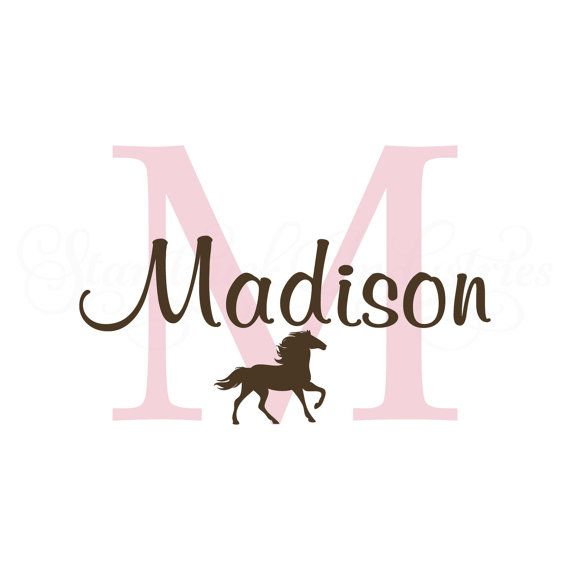 ~DESCRIPTION~  This wall decal is personalized with the name you tell us and is perfect for any horse lovers room!  Once you add the item to