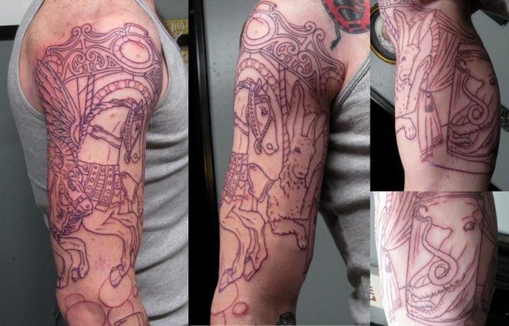 Carnival sleeve in progress 1 tattoo pinterest - Tatouage gitane signification ...