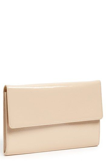 $78, Beige Leather Clutch: Halogen Patent Leather Clutch Beige Almond. Sold by Nordstrom. Click for more info: http://lookastic.com/women/shop_items/71491/redirect