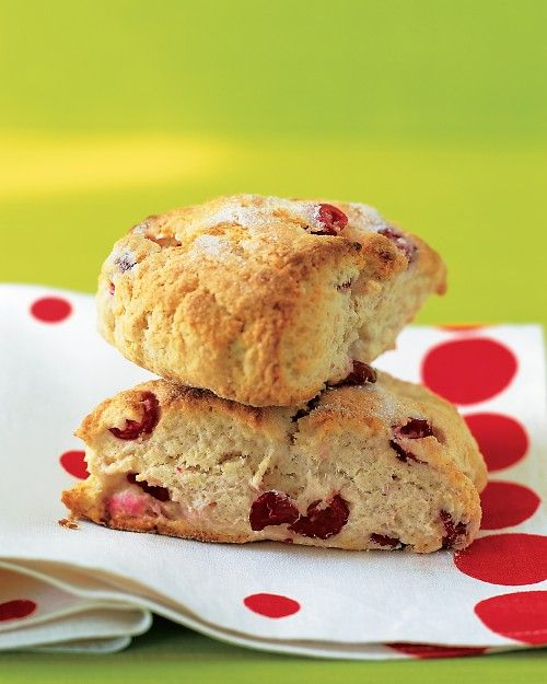 Cranberry Scones - Martha Stewart Recipes.  I LOVE cranberry scones!  Now I need a good glaze to put on them.....   :-)