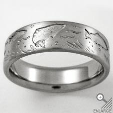 fish wedding band-my husband SO needs this ring