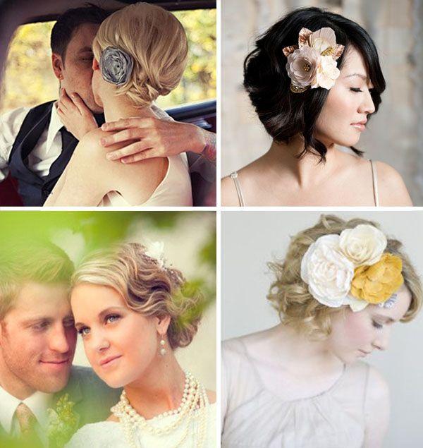 Acconciature da sposa per i capelli corti | Idee per ...