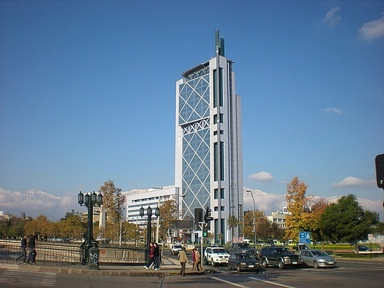 Cool building in Santiago.  Owned my Telefonica.