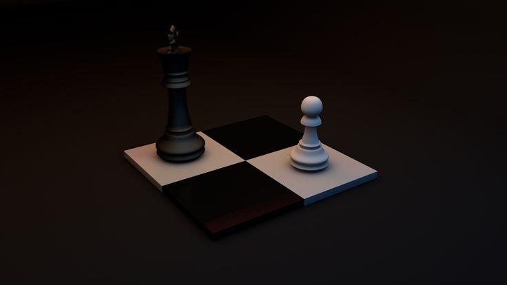 Шахматы 3D, размер: 1920x1080 пикселей
