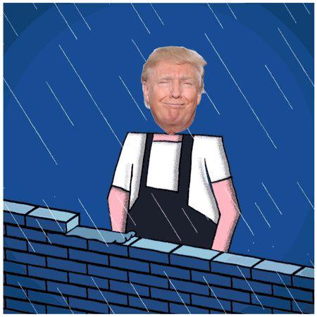 Donald Trump Building Wall