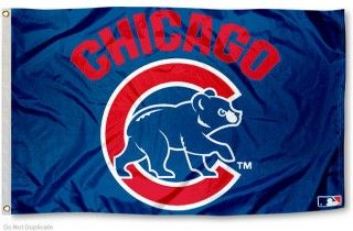 Chicago Cubs Flag with Walking Bear Logo!