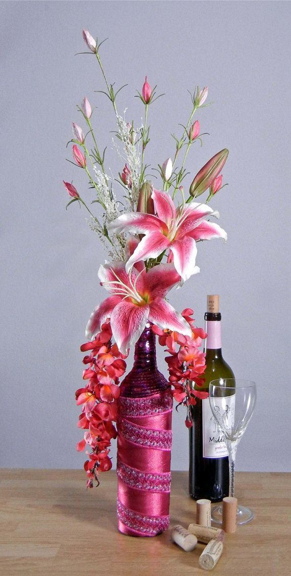 Pink Stargazer Lily Floral Arrangement In Pink By Rachelsheart Creative Floral Designs