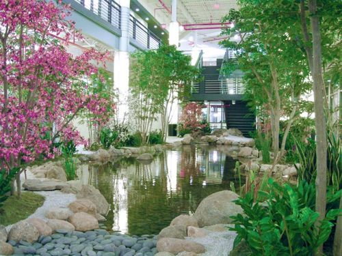 60 best interior landscaping design images on pinterest for Indoor pond design