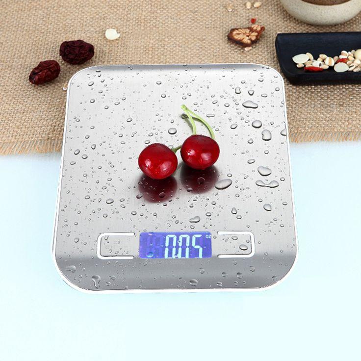11 LB / 5000g Stainless Steel Digital Kitchen Scales Cooking Measure Tools Electronic Weight LED Food Scale calorie -- Haga clic en la imagen para visitar el sitio web