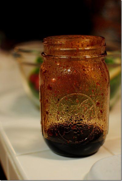 Raspberry Balsamic Vinaigrette  Ingredients (serves 1)  •1 Tablespoon raspberry preserves  •3 Tablespoons balsamic vinegar  •salt & pepper      Instructions  •Add all ingredients in a small jar or bowl and whisk or shake until combined.