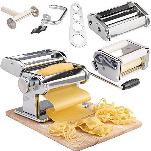 Trend Ravioli Pasta Maker Machine Spaghetti Noodle Stainless Steel Roller Dough Cutter