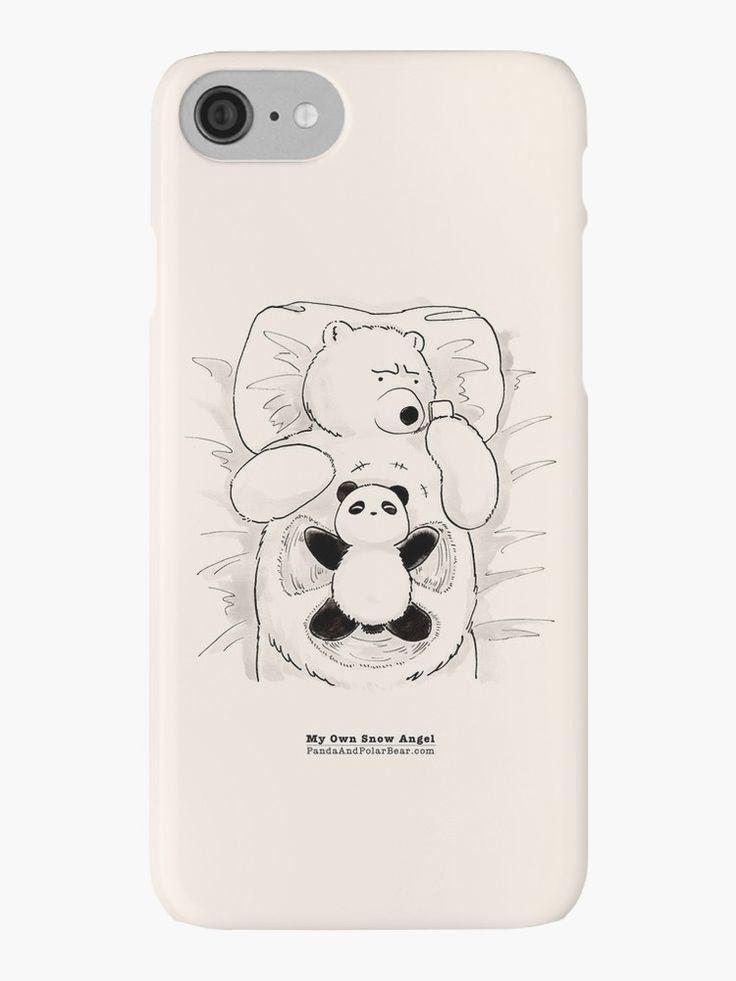 """el vientre del oso polar es el lugar favorito de Panda en el mundo ❤ Un dibujo animado lindo de la serie cómica * Panda y oso polar * enlace original: """"mi propio ángel de la nieve"""": http: //www.pandaandpolarbear.com/2013/01/my-own -Ángel de nieve/ • Also buy this artwork on phone cases, apparel, stickers y more."""