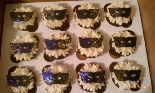 Masquerade Cake Decorations