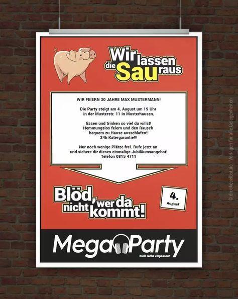 © Druckeselbst! Witzige Partyeinladung