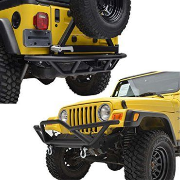 E-Autogrilles-87-06-Jeep-Wrangler-TJ-YJ-Tubular-Front-Rear-Bumper-Combo-with-Tire-Carrier-51-0000-51-0004-0