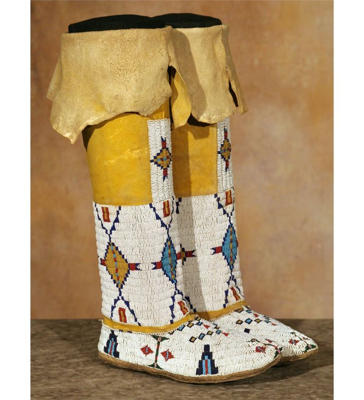 Cheyenne Girl's Beaded Moccasins and Leggings