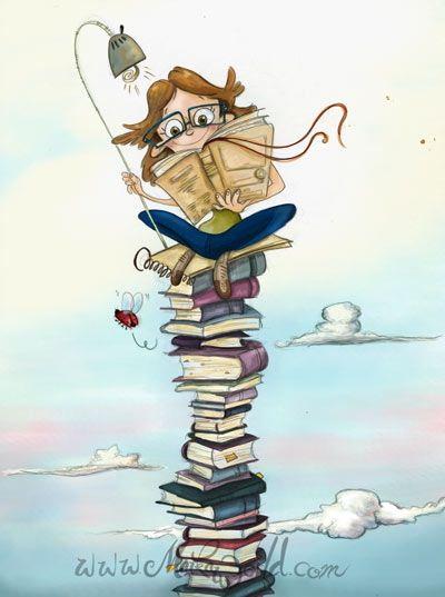 Books to the sky.