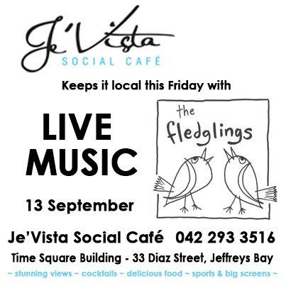 The Fledglings, homegrown Jeffreys Bay Band, live at Je'Vista Social Cafe