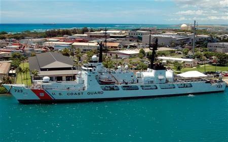 USCGC RUSH in Honolulu.  Magic Rises