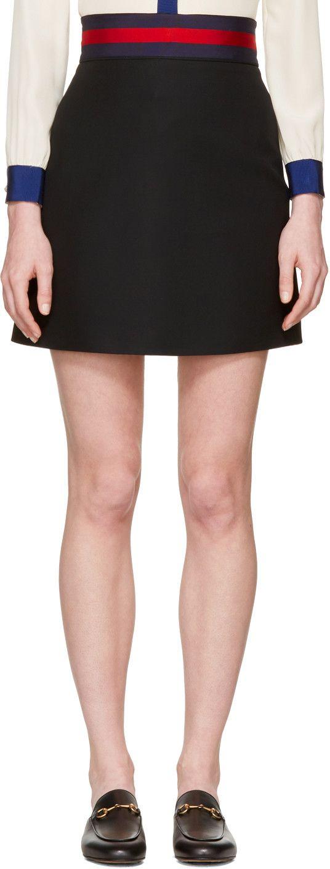 Gucci - Black Web Ribbon Miniskirt