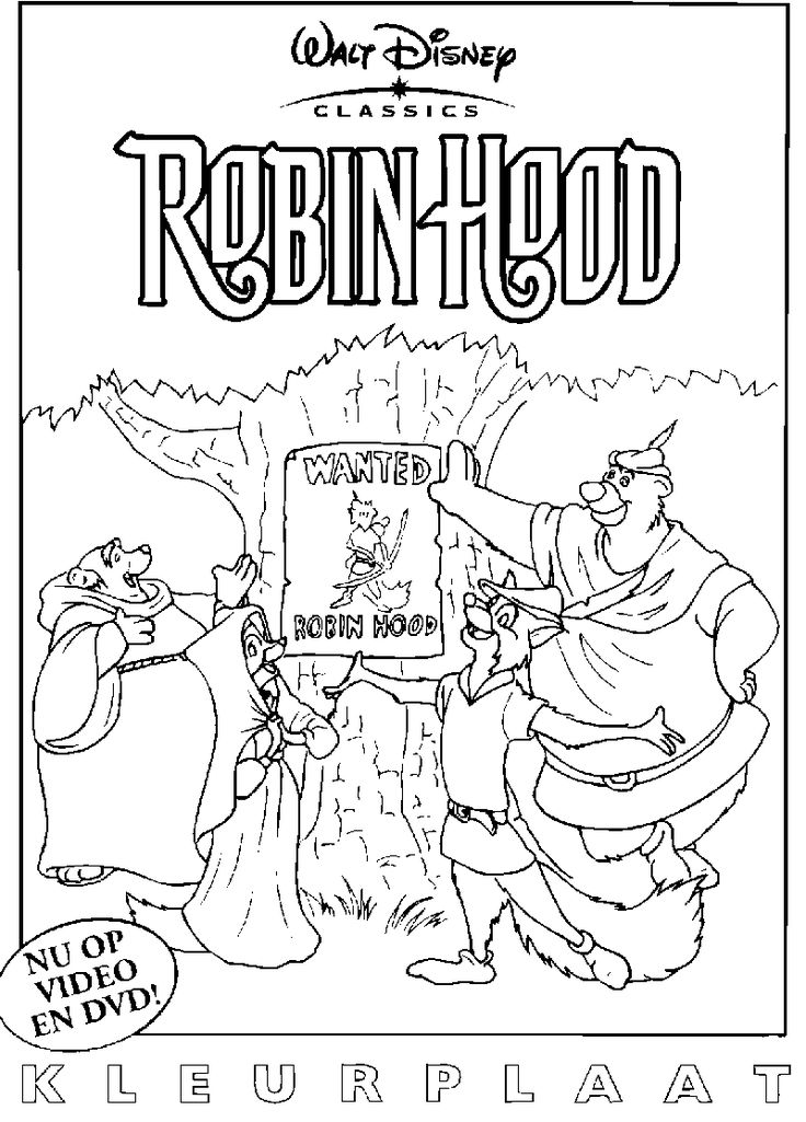 14 best Coloring Pages Robin Hood images on Pinterest Coloring