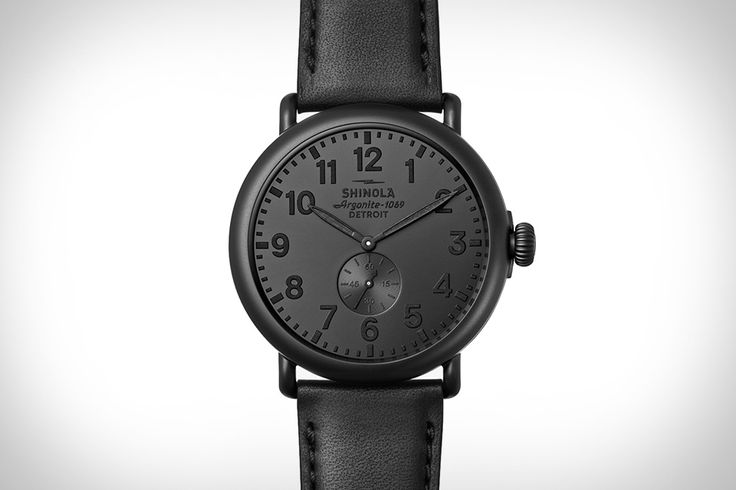 As stealthy as it is sophisticated, the Shinola Runwell All Black Watch is a versatile timepiece that looks great with anything... as long as there's some black involved. It's powered by the company's Argonite 1069 movement, with a matte black...