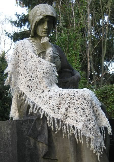 Delicate designed using natural coloured wool, wet felted scarf | Prinzessinnentauglich... - anaj - myblog.de